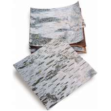 Dried Birch Bark Sheets - Cured & Natural