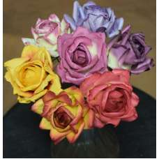 Beautiful Parchment Roses - Wood Roses