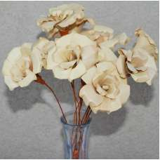 Wood Palm Roses - Wood Flower Bunch