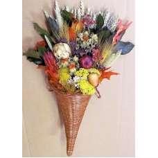 Dried Flower Cornucopia - Horn of Plenty