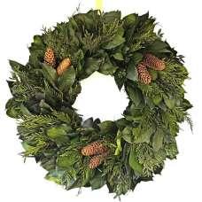 Celebrate Evergreens Wreath - Dried Wreath