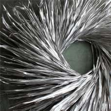Dried Palm Leaf Wreath - Nickel Painted