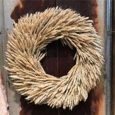 Dried Rye Wreath - 22 inch natural