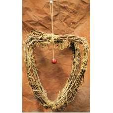 Grape Vine Heart Chandelier - wreath