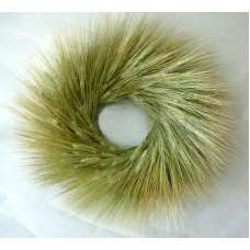 Bearded Green Wheat Wreath - 19 inch